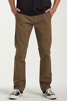 Штаны прямые Billabong Carter Yarndye Chino Dark Khaki