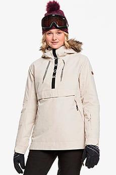 Анорак сноубордический женский Roxy Shelter Jk Snjt Tfn0 Oyster Gray