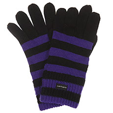 Перчатки Carhartt WIP Park Strip Gloves Black/Dark Lilac