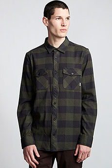 Рубашка в клетку Element Tacoma 2colors Ls Olive Drab
