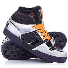 Кеды высокие Osiris Tranzor Silver/purple/Blk/Shearling