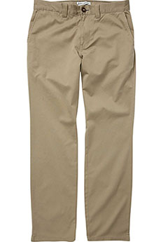 Штаны прямые Billabong Carter Stretch Chino Dark Khaki