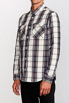 Рубашка в клетку RVCA Thatll Work Flannel Silver Bleach