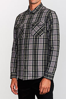 Рубашка в клетку RVCA Thatll Work Flannel Smoke