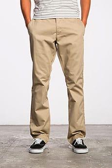 Штаны прямые Rvca Weekend Stretch Pant Khaki