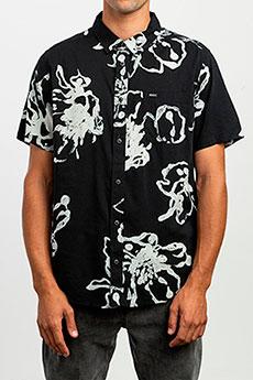 Рубашка Rvca Vaughn Linear Ss Black
