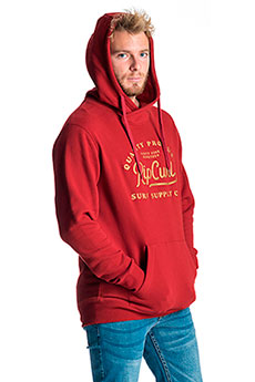 Толстовка кенгуру Rip Curl Surf Supply Co. Fleece Red