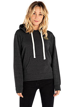 Толстовка кенгуру женская Rip Curl Made For Waves Hooded Fleece Black Marled