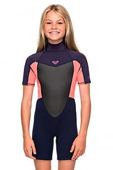 Детский гидрокостюм с коротким рукавом и молнией на спине 2/2mm Prologue 8-16 Roxy