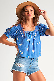 Блузка Billabong Perfectly Puff Costa Blue