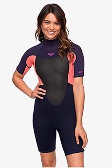 Женский гидрокостюм с коротким рукавом и молнией на спине 2/2mm Prologue Roxy