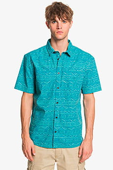 Рубашка QUIKSILVER Heritageshirtss Pagoda Blue He