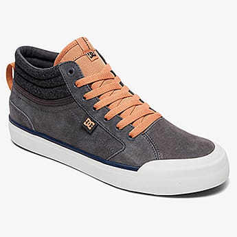 Кеды высокие DC Shoes Evan Hi Grey/Gum