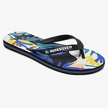 Вьетнамки QUIKSILVER Molo Tropical Black/White/Blue20-134