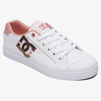 Кеды низкие для девочек DC Shoes Chelsea White/Pink