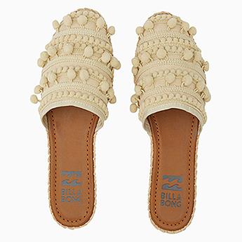 Шлепанцы женские Billabong Обувь Пляжная Pommy Natural