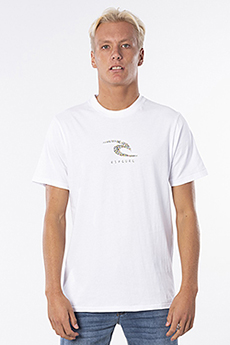Футболка Rip Curl K-fish Wave Tee 1000 White
