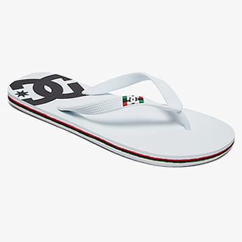 Вьетнамки DC Shoes Spray White/White/Black