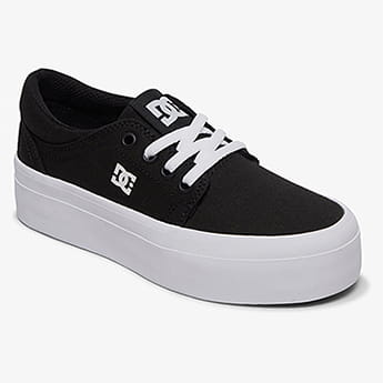 Кеды детские DC Shoes Trase Plat Black/White