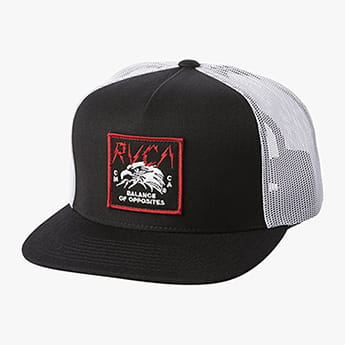 Бейсболка Rvca Strike Trucker Black