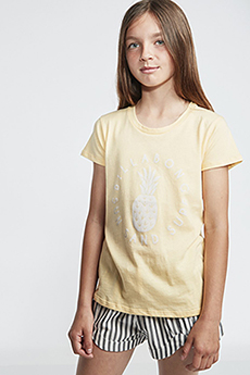 Футболка детская Billabong Sand And Surf Canary Yellow