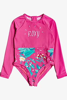 Купальник детский Roxy Sea Ls Ons K Sfsh Mlb6 Pink Flambe Sunnypla