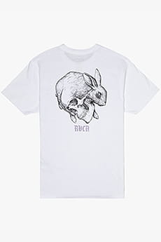 Футболка Rvca Skull Rabbit Ss White