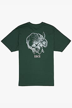 Футболка Rvca Skull Rabbit Ss Green