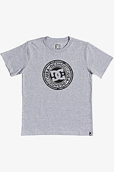 Футболка детская DC Shoes Circle Star Xssk Grey Heather/Black