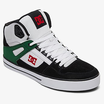 Кеды DC Shoes Pure Ht Wc White/Green/Black