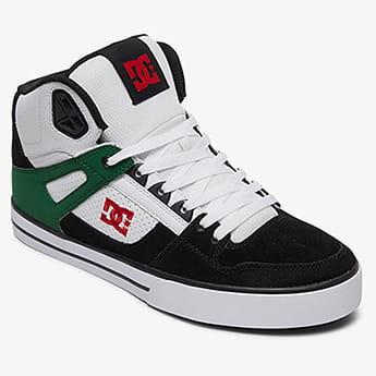 Кеды DC Shoes Pure Ht Wc White/Green/Black