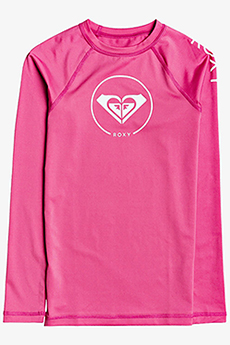 Гидрофутболка детская Roxy Be Cl Ls Pink Flambe-107