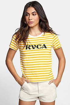 Футболка женская Rvca Murphy Stripe Tee Vintage White