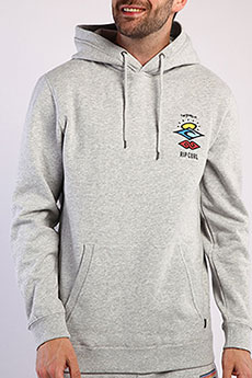 Толстовка классическая Rip Curl Search Icon Hood Cement Marle