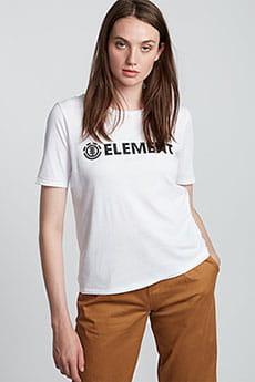 Футболка женская Element Logo Cr White