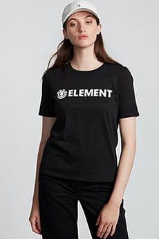 Футболка женская Element Logo Cr Black