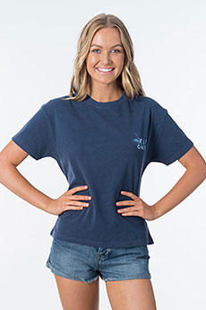 Футболка женская Rip Curl Ripcurl World Tee Dark Blue