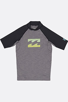 Футболка детская Billabong Для Плавания Team Wave Ss Grey Heather