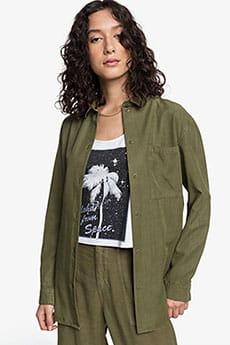 Блузка женская QUIKSILVER Luxuryshirt W Wvtp Burnt Olive--24