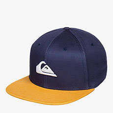 Бейсболка с прямым козырьком QUIKSILVER Chompers Hdwr Midnight Navy