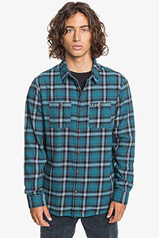 Рубашка в клетку QUIKSILVER Shadowsets Blue Coral Shadow