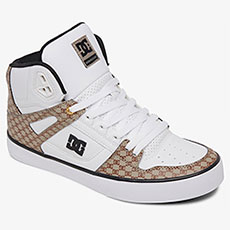 Кеды высокие DC Shoes Pure Ht Wc Black/White/Brown