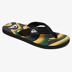 Вьетнамки QUIKSILVER Molokai Layback Black/Yellow/Green