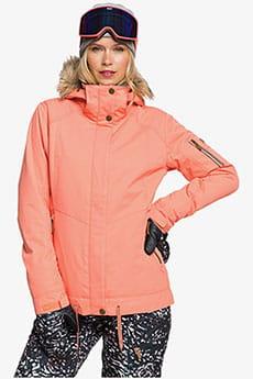 Куртка сноубордическая женская Roxy Meade Snjt Fusion Coral