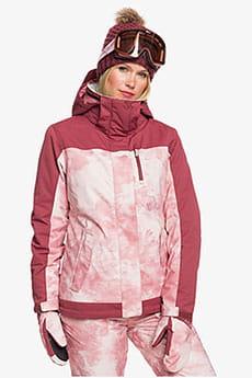 Куртка сноубордическая женская Roxy Jetty Block Jk Silver Pink Tie Dye