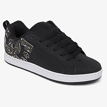 Кеды женские DC Shoes Court Graffik Black/Splatter