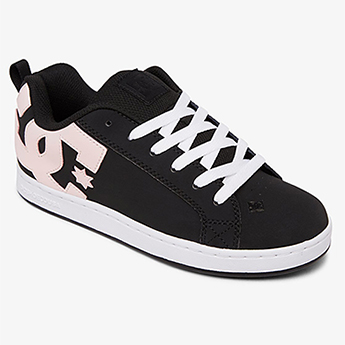 Кеды женские DC Shoes Court Graffik Black/Super Pink