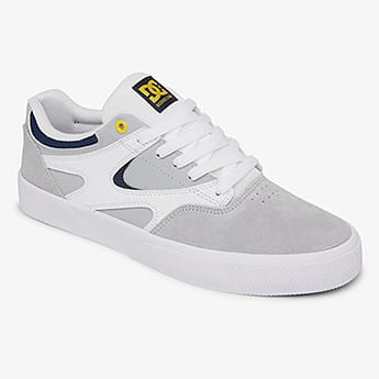 Кеды DC Shoes Kalis Vulc White/Grey/Grey