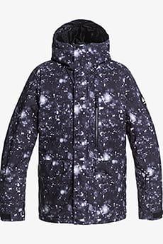Куртка сноубордическая QUIKSILVER Mission Prin True Black Woolflake