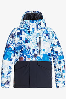 Куртка Сноубордическая QUIKSILVER Mission Blk Yth B Snjt Bnl5 Brilliant Blue Check